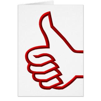 Los pulgares suben la mano felicitacion