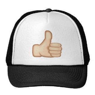 Los pulgares suben la muestra Emoji Gorra