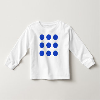 Los puntos azules Largo-Envolvieron la camiseta Remera