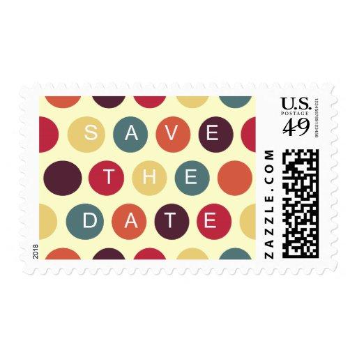 Los puntos coloridos - ahorre los sellos de fecha