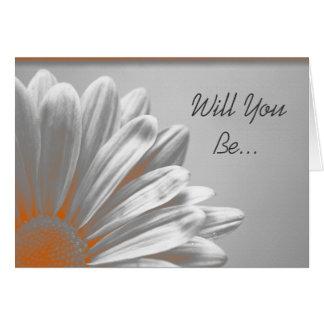 Los puntos culminantes florales anaranjados le tarjeta de felicitación