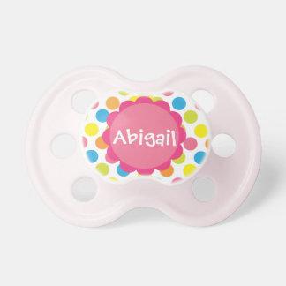 Los puntos del caramelo personalizaron el pacifica chupetes para bebés