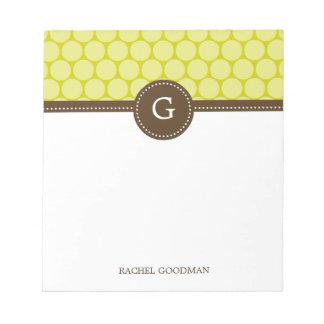 Los puntos deliciosos personalizaron la libreta blocs de notas