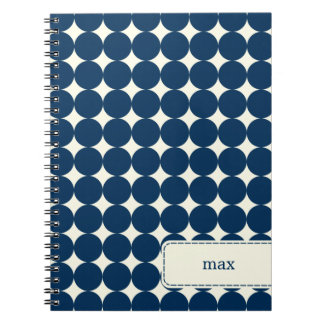 Los puntos modernos personalizaron el cuaderno - m