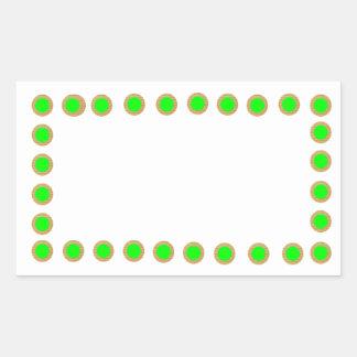 Los puntos verdes n de Greendot de oro - celebre Pegatina Rectangular