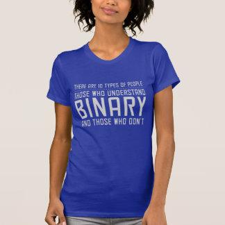 Los que entienden el binario camisetas