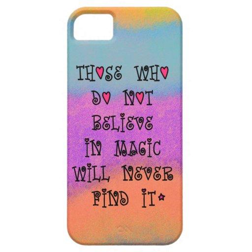 Los que no creen en magia nunca encontrarán iPhone 5 Case-Mate funda