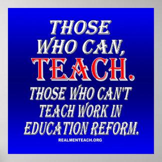 Los que no pueden enseñar al trabajo en reforma de impresiones