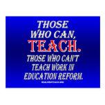 Los que no pueden enseñar al trabajo en reforma de postal
