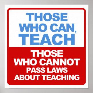 Los que pueden, enseñar a los posters póster