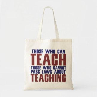 Los que pueden enseñar bolsa lienzo
