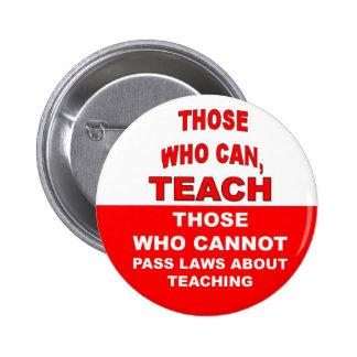 Los que pueden, enseñar pin