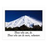 Los que pueden hacer a más voluntario postales