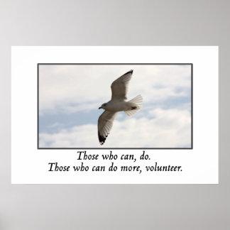 Los que pueden hacer a más voluntario póster