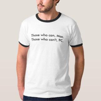 Los que pueden, Mac.Those que no puede, PC Poleras