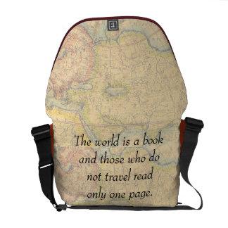 Los que viajan bolsas messenger