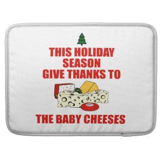 Los quesos del bebé funda para macbook pro