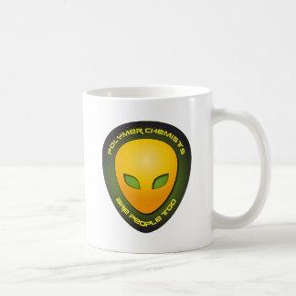 Los químicos del polímero son gente también taza de café