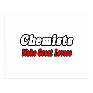 Los químicos hacen a grandes amantes tarjeta postal