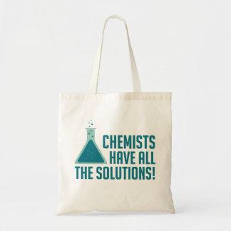 Los químicos tienen todas las soluciones bolsa tela barata