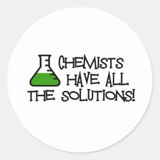 Los químicos tienen todas las soluciones etiquetas