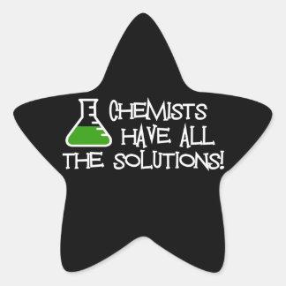 Los químicos tienen todas las soluciones pegatina forma de estrella personalizada