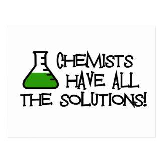 Los químicos tienen todas las soluciones postales
