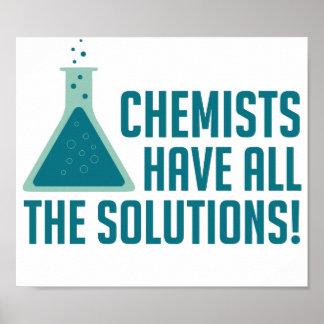 Los químicos tienen todas las soluciones póster