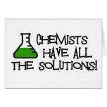 Los químicos tienen todas las soluciones felicitaciones