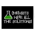 Los químicos tienen todas las soluciones tarjeton
