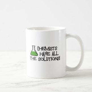 Los químicos tienen todas las soluciones tazas de café