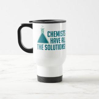 Los químicos tienen todas las soluciones taza de viaje