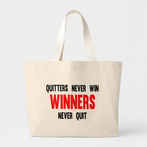 Los Quitters nunca ganan a los ganadores nunca aba Bolsa