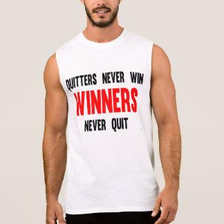 Los Quitters nunca ganan a los ganadores nunca aba Camisetas Sin Mangas
