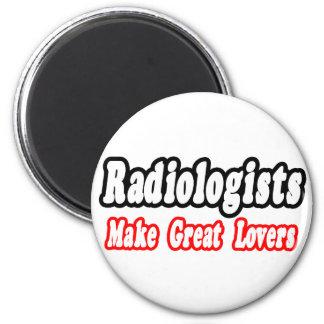 Los radiólogos hacen a grandes amantes imán redondo 5 cm