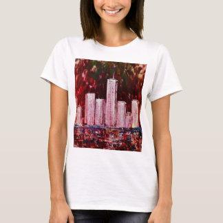 Los rascacielos de Nueva York cupieron la camiseta