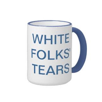 los rasgones de la gente blanca taza de dos colores