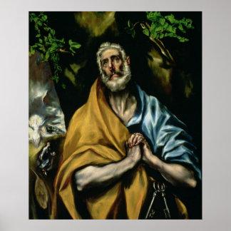 Los rasgones de San Pedro, últimos 1580s Impresiones