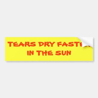 Los rasgones se secan más rápidamente en el Sun Pegatina Para Auto