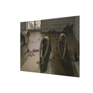 Los raspadores del piso de Gustave Caillebotte Impresión En Lienzo
