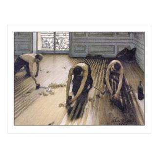 Los raspadores del piso de Gustave Caillebotte Tarjetas Postales
