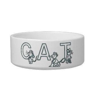 Los ratones jugarán el plato del gato tazon para gato