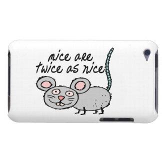 Los ratones son dos veces tan Niza Case-Mate iPod Touch Protector