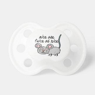 Los ratones son dos veces tan Niza Chupetes Para Bebés