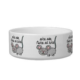 Los ratones son dos veces tan Niza Comedero Para Mascota