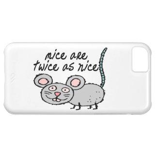 Los ratones son dos veces tan Niza Funda Para iPhone 5C