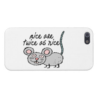 Los ratones son dos veces tan Niza iPhone 5 Fundas