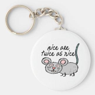 Los ratones son dos veces tan Niza Llavero Redondo Tipo Pin