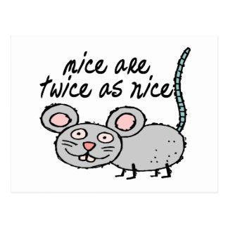 Los ratones son dos veces tan Niza Postal