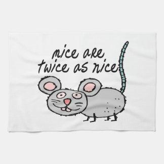 Los ratones son dos veces tan Niza Toallas De Mano